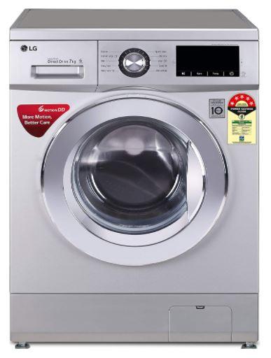 lg 7 kg front load washing machine below 30k india